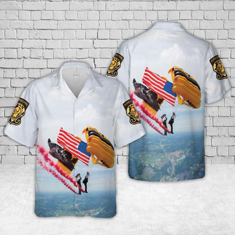 US Army Golden Knights Air Show Hawaiian Shirt