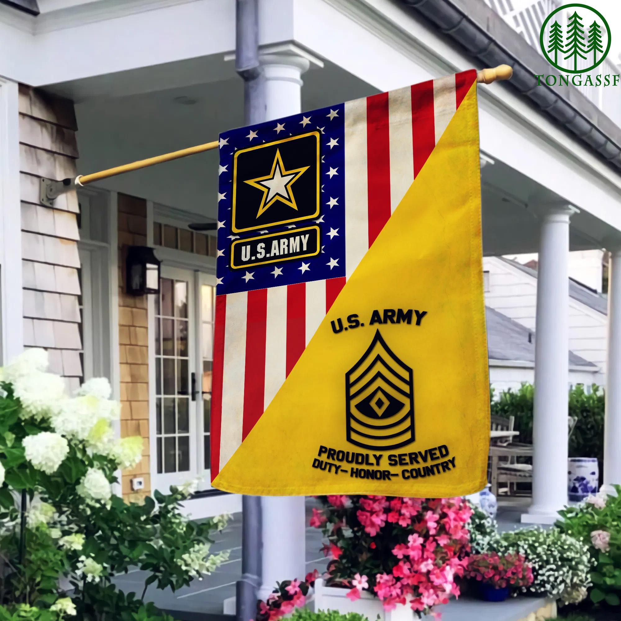 US Army Military Rank custom garden flag