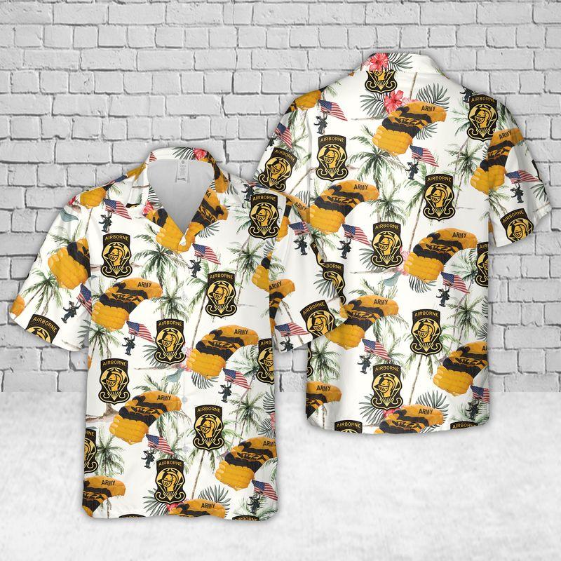 US Army Parachute Team Hawaiian Shirt and short