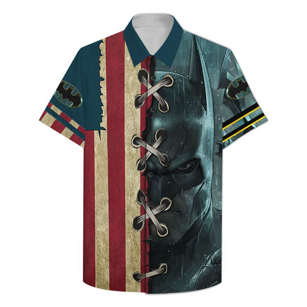 US Batman American flag Hawaiian Shirt Summer Shirt
