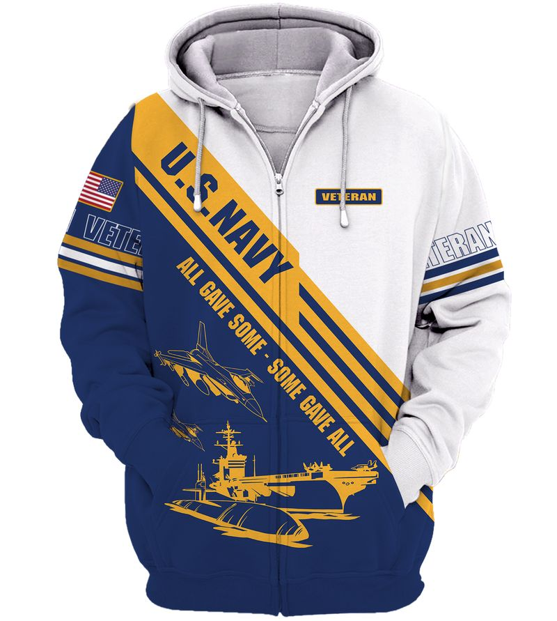 US Navy Veteran All Gave Some Some Gave All hoodie 3D