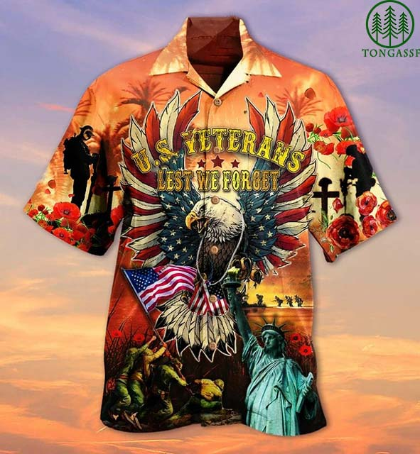 US veterans Lest We forget Hawaiian Shirt