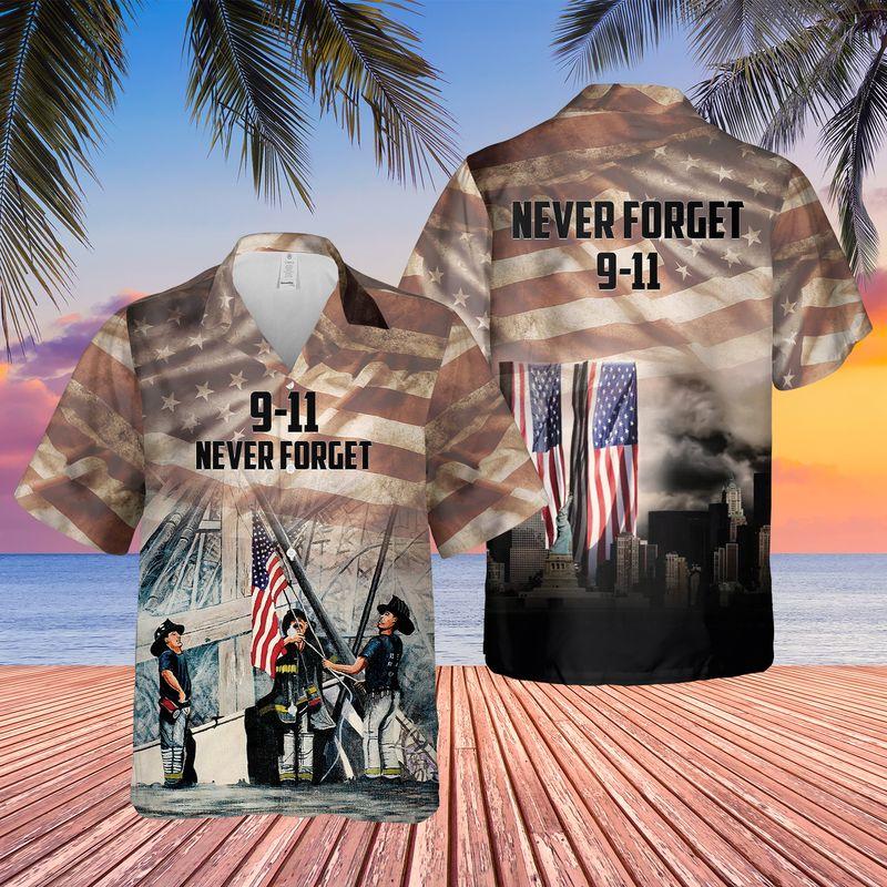USA Never Forget 9-11 Hawaiian Shirt