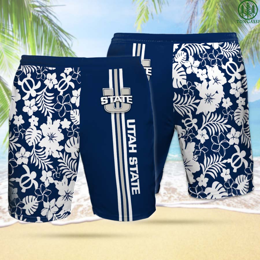 USA UTAH STATE AGGIES Hawaiian Shorts