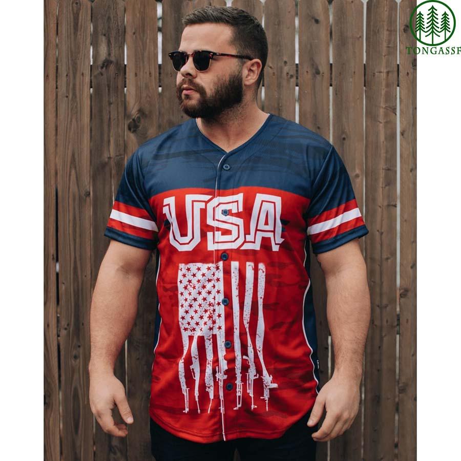 USA We the peole baseball jersey shirt