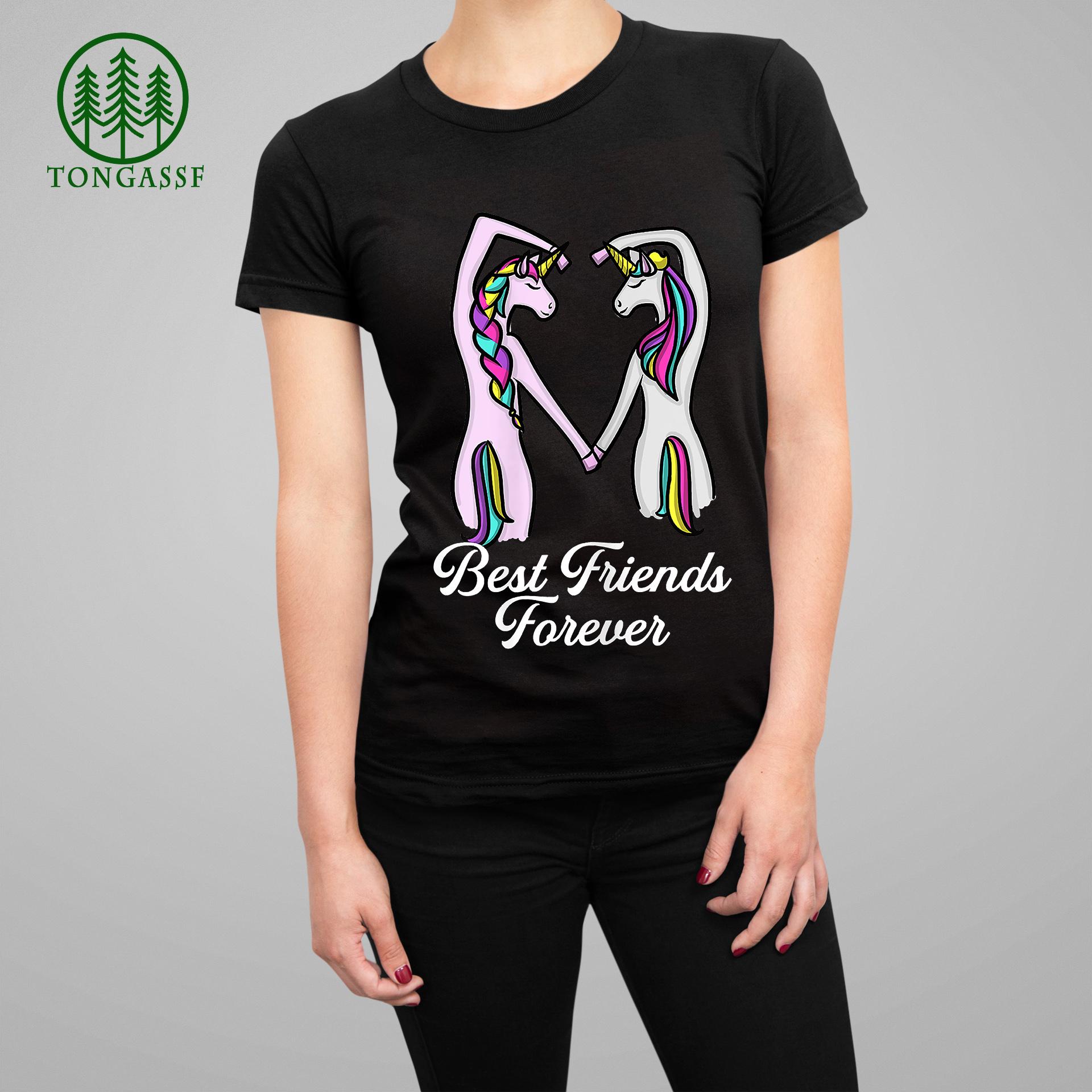 Unicorn best friends forever friendship T Shirt