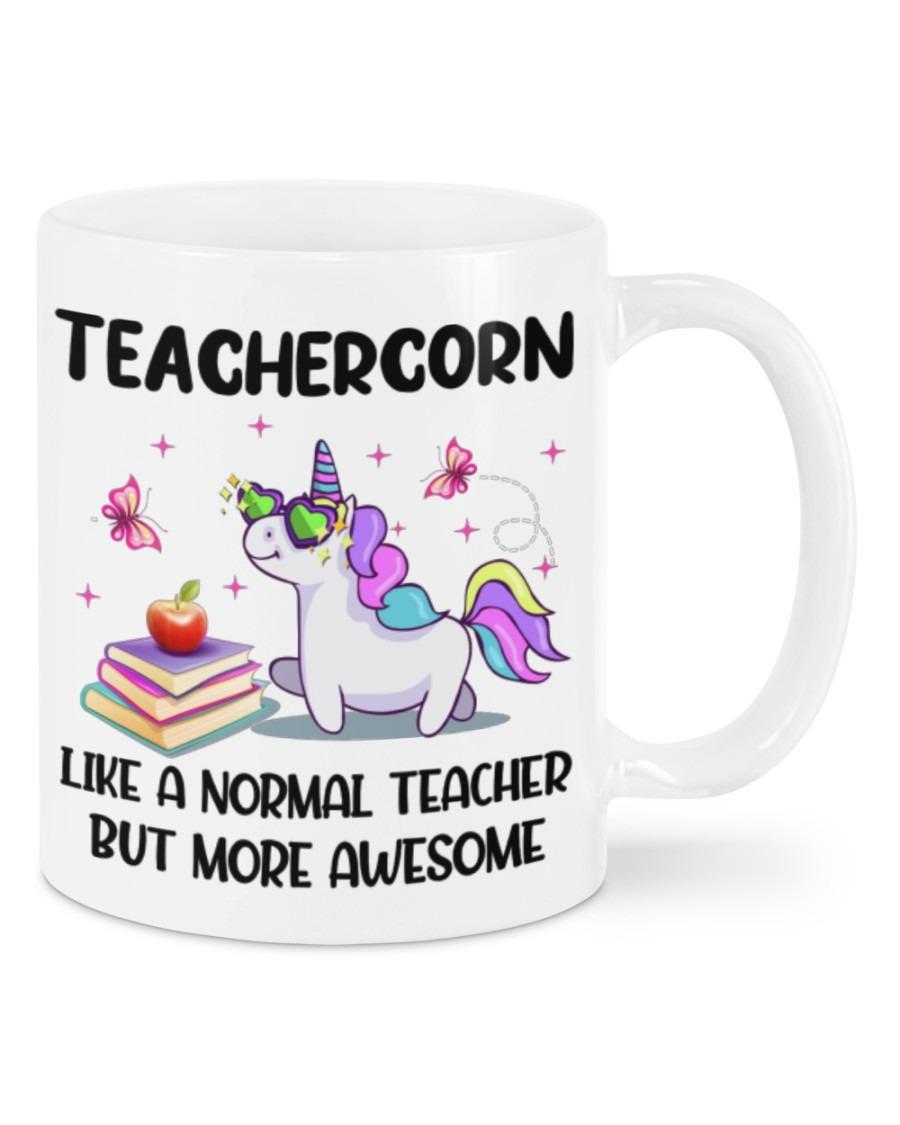 Unicorns Teachercorn Like A Normal Teacher Mugs