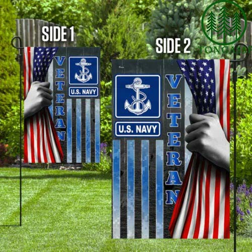 United States American Navy Veteran Flag