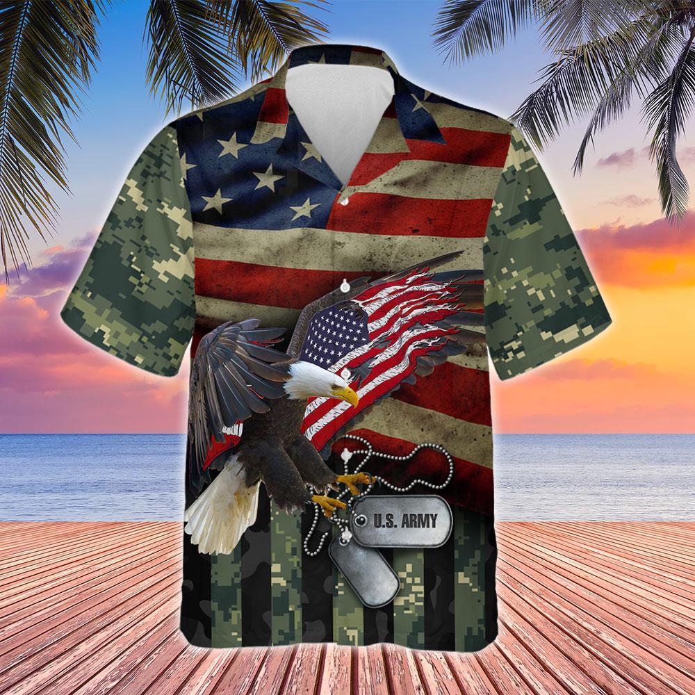 United States Army Hawaiian Shirt 2