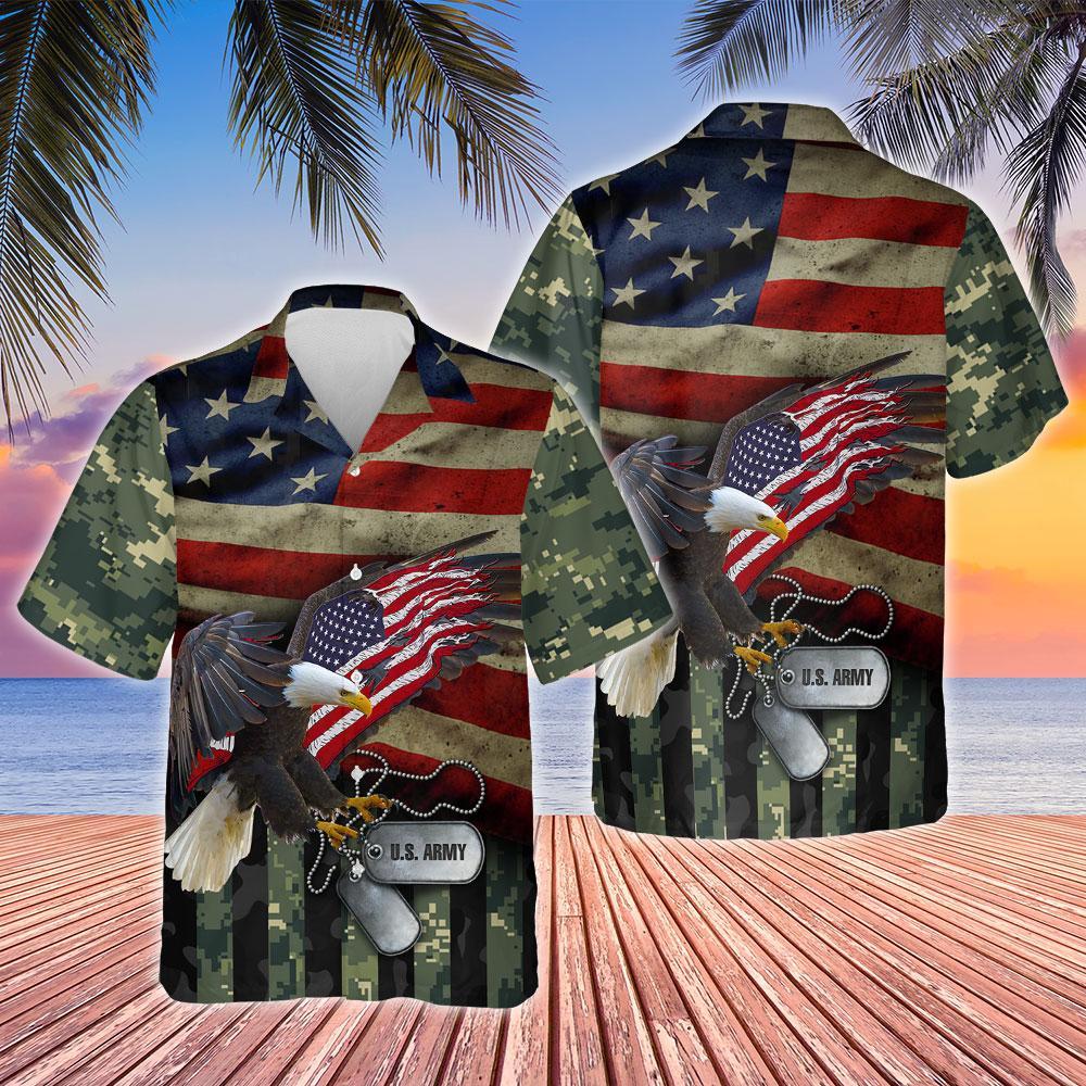 United States Army Hawaiian Shirt
