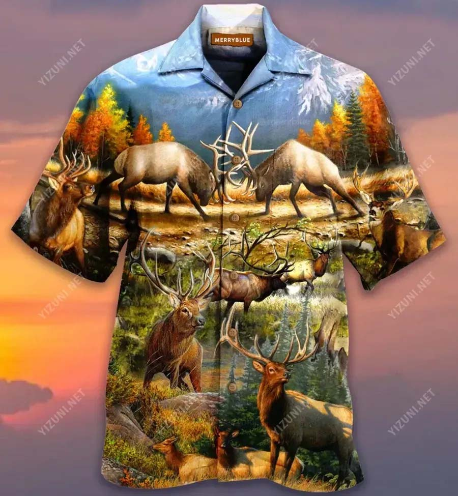 Find Me Where The Wild Things Are Deer Hawaiian Shirt