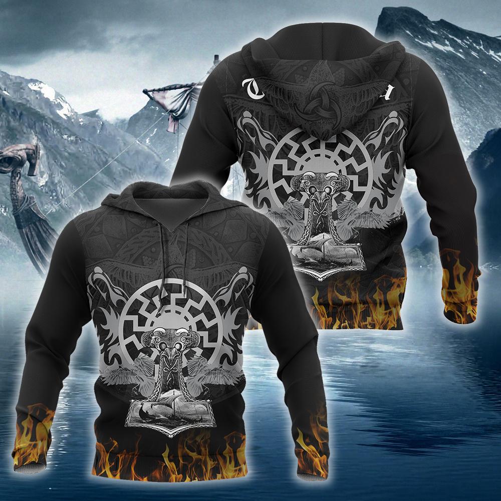 Vikings Fire Hoodie 3D
