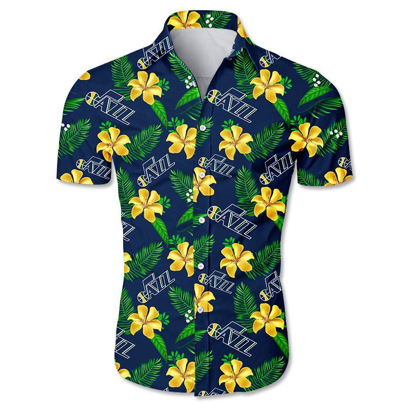NBA Utah Jazz Hawaiian Shirt Small Flowers