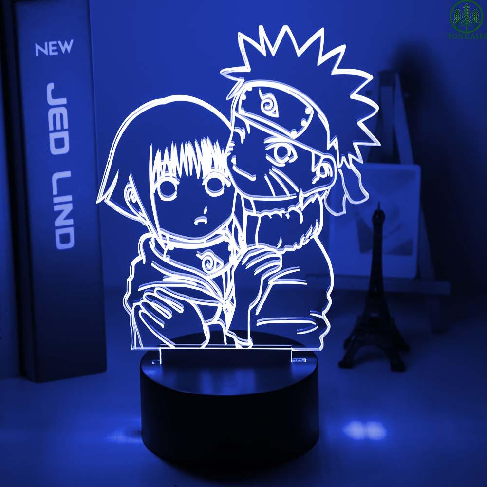 Uzumaki Naruto and Hinata Hyuga 3D UV Led Table Lamp