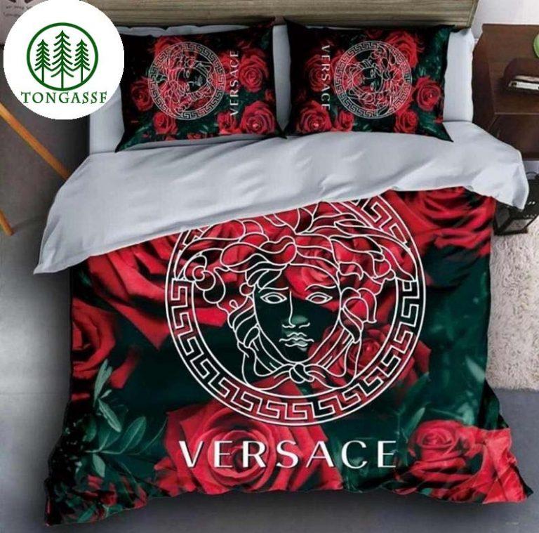 Versace rose bedding set