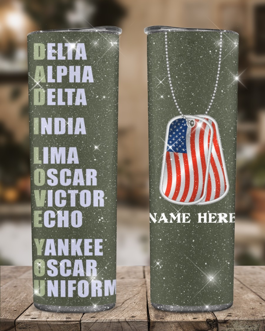 Veteran Delta Alpha Custom Skinny Tumbler
