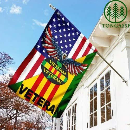Vietnam Veteran American Eagle Flag