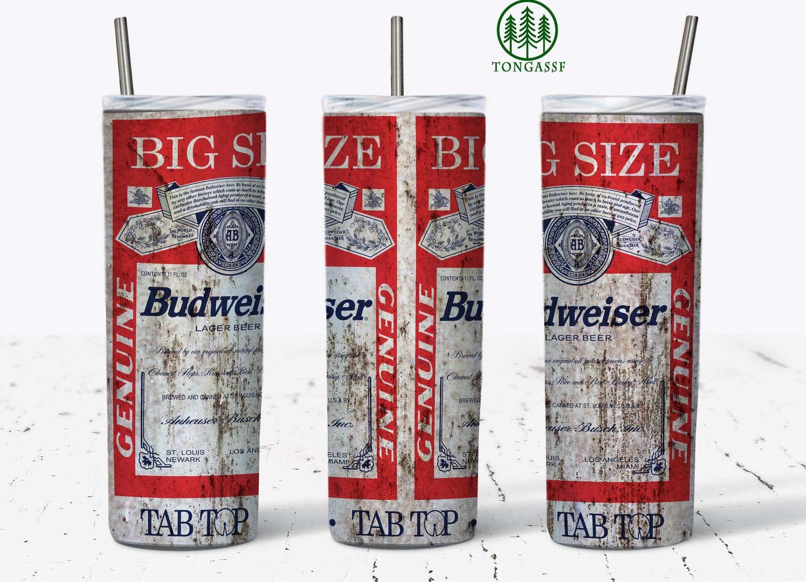 Vintage Design Budweiser Skinny Tumbler