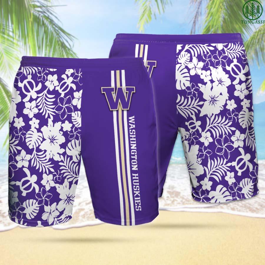 WH WASHINGTON HUSKIES Hawaiian Shorts