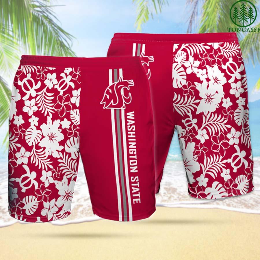 WS WASHINGTON STATE COUGARS Hawaiian Shorts
