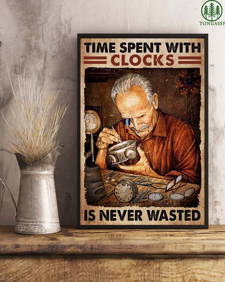 Watchmaker time spent with clocks is never wasted