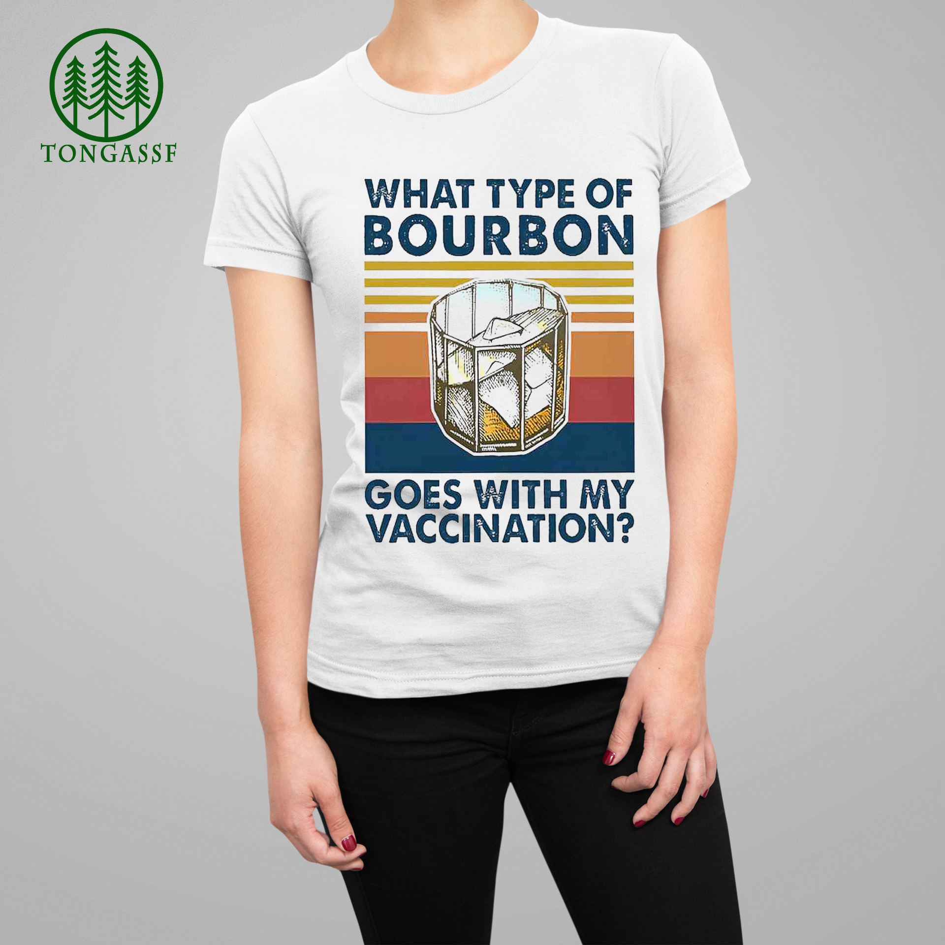 What type of bourbon goes with my vaccination vintage shirt