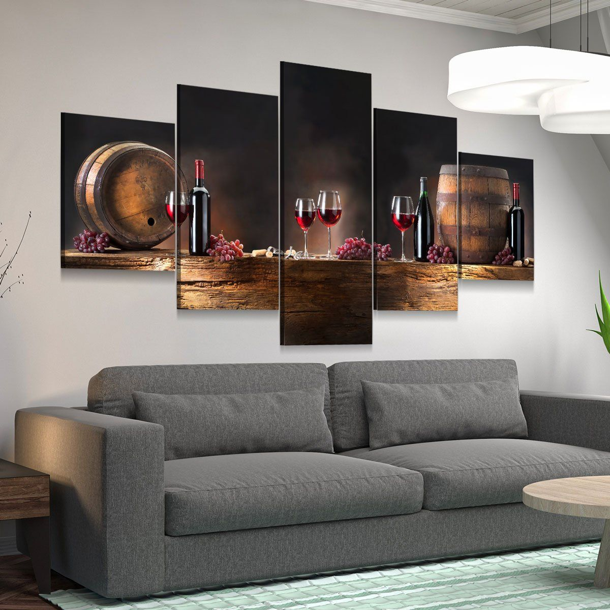 Wine Lovers Canvas 5 panel canvas wall art