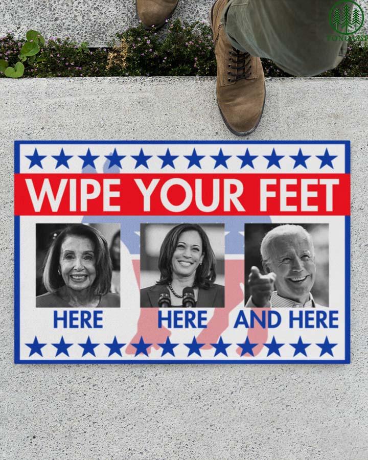 Wipe your feet Biden and Harris doormat