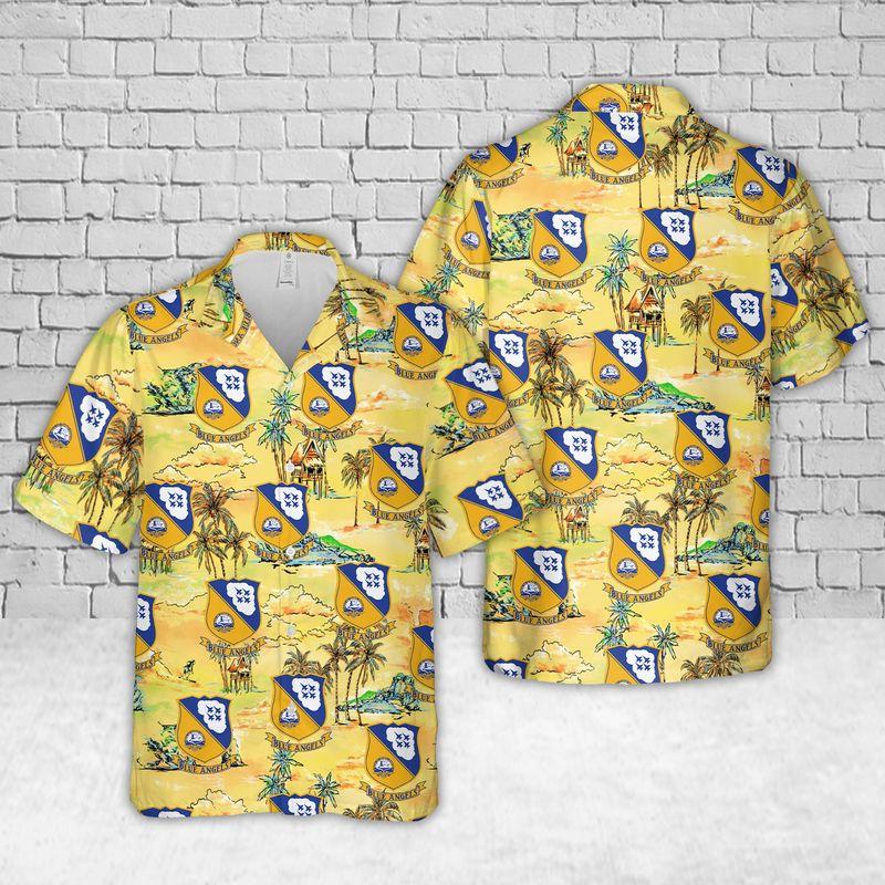 US Air Force Thunderbirds Hawaiian Shirt and short