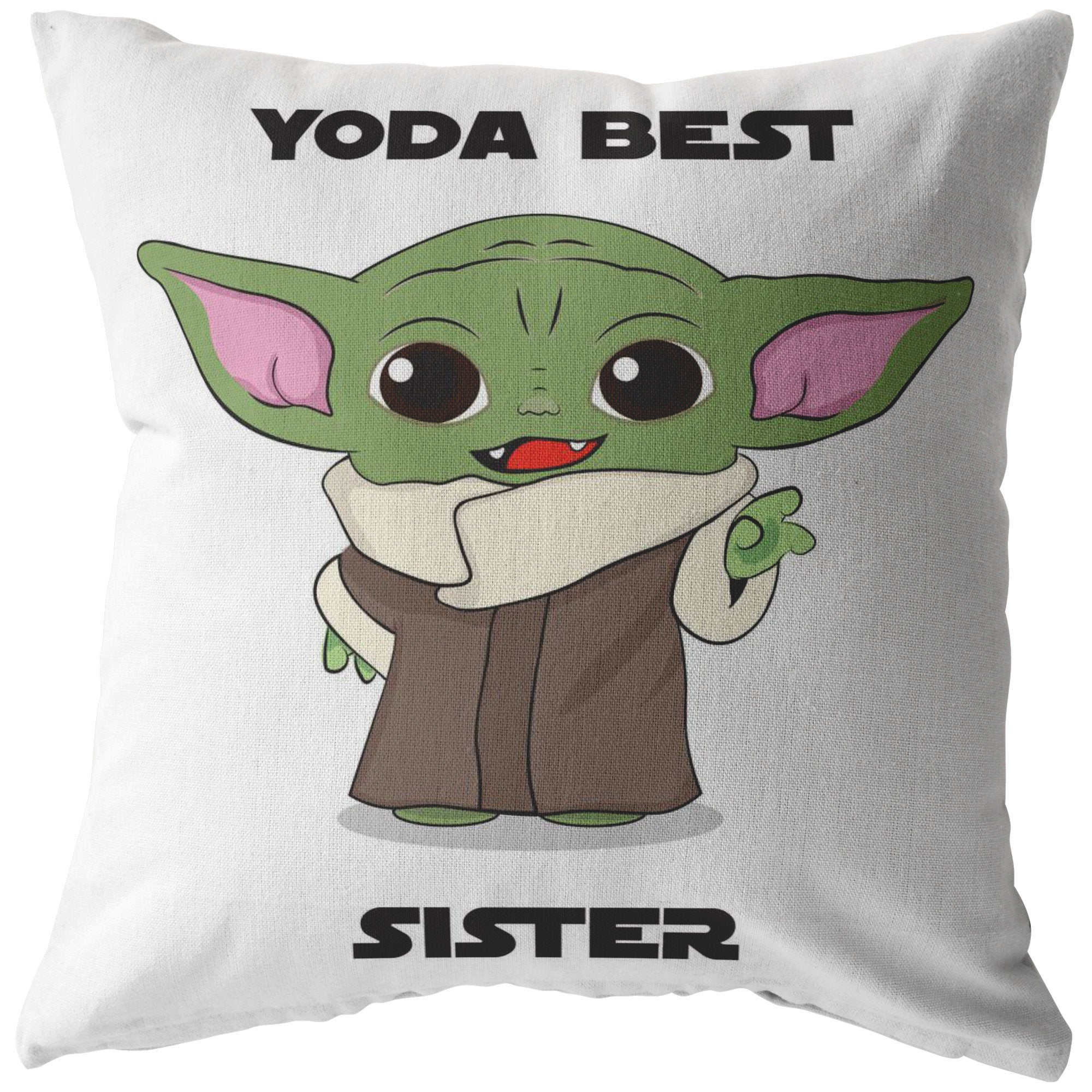 Yoda Best Sister Pillow Case Cushion Cover