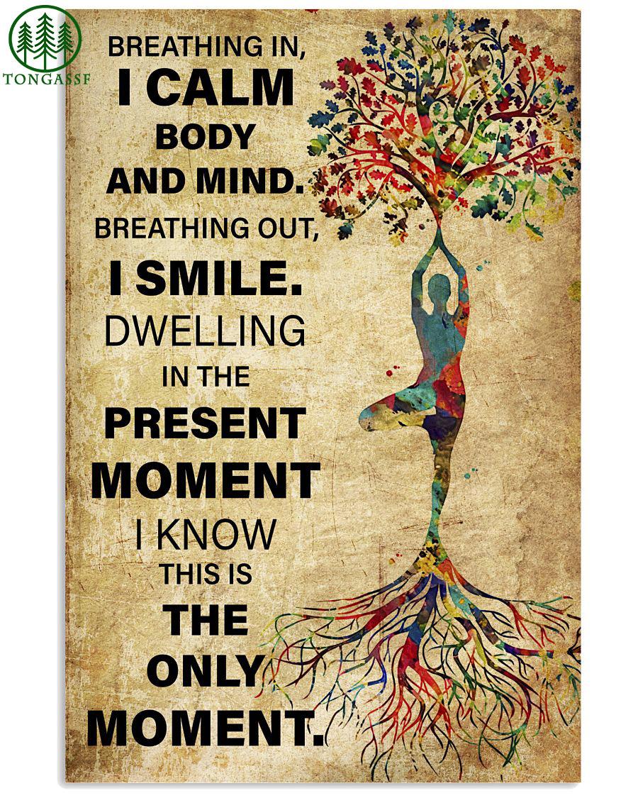 Yoga tree pose Vrksasana I calm body and mind poster