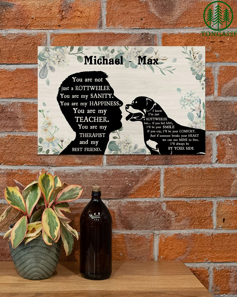 You Are Not Just A Rottweiler Personalized Male Horizontal Poster