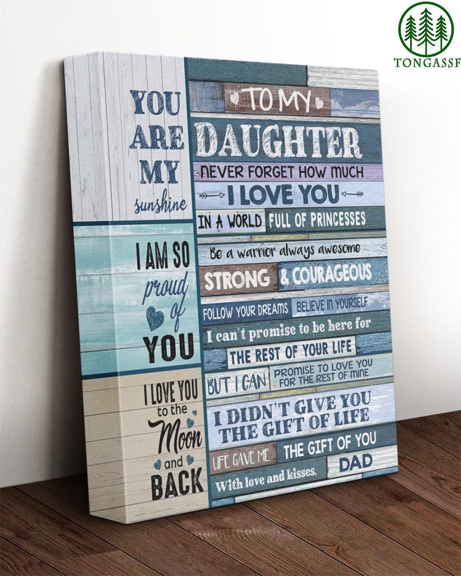 You are my sunshine Dad to Daughter canvas
