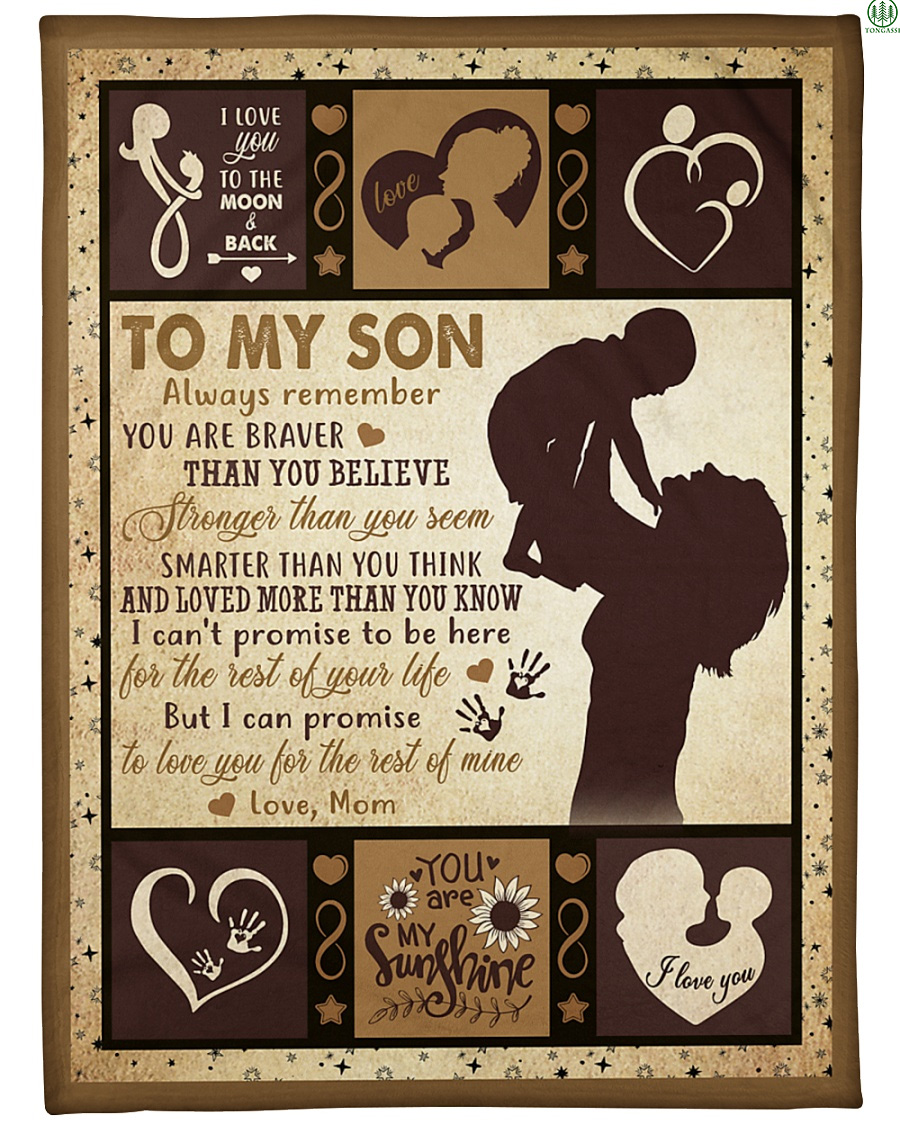 You are my sunshine Mother to Son fleece blanket