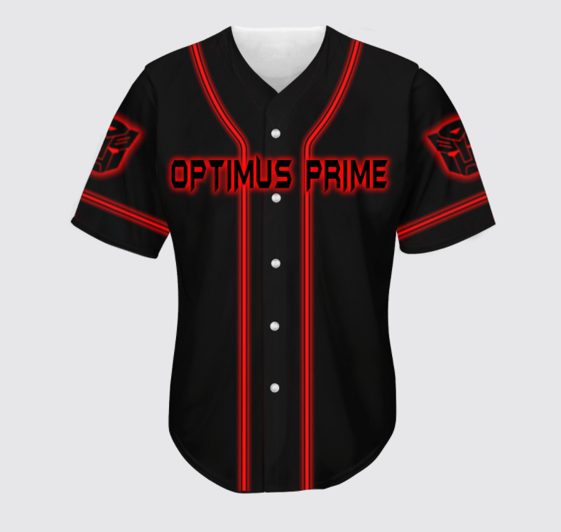 Optimus Prime Transformers baseball Jersey shirt