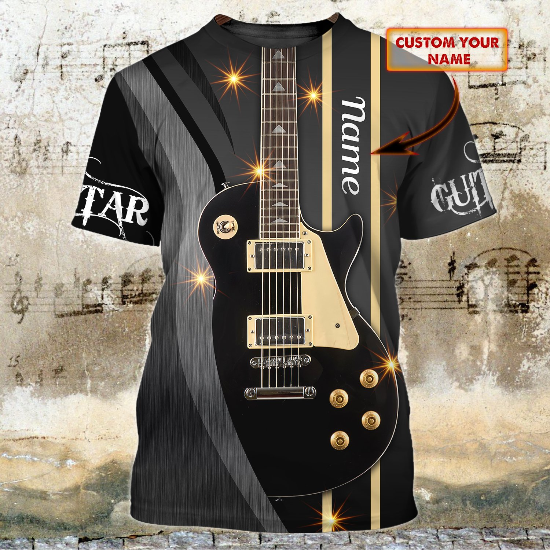 Guitar Dark 3D T Shirt