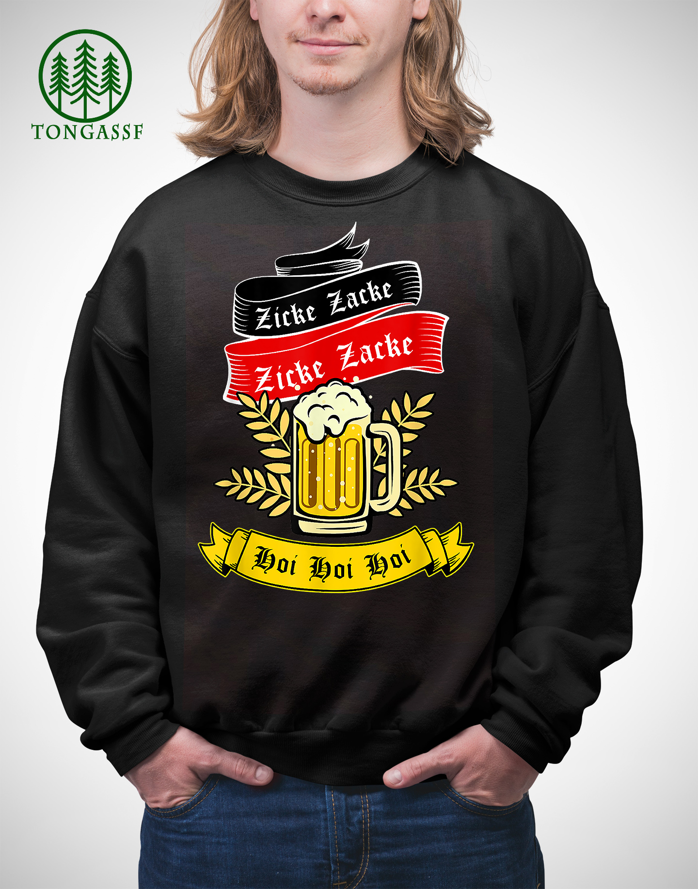 Zicke Zacke Hoi Funny Germany Flag Oktoberfest German Sweatshirt