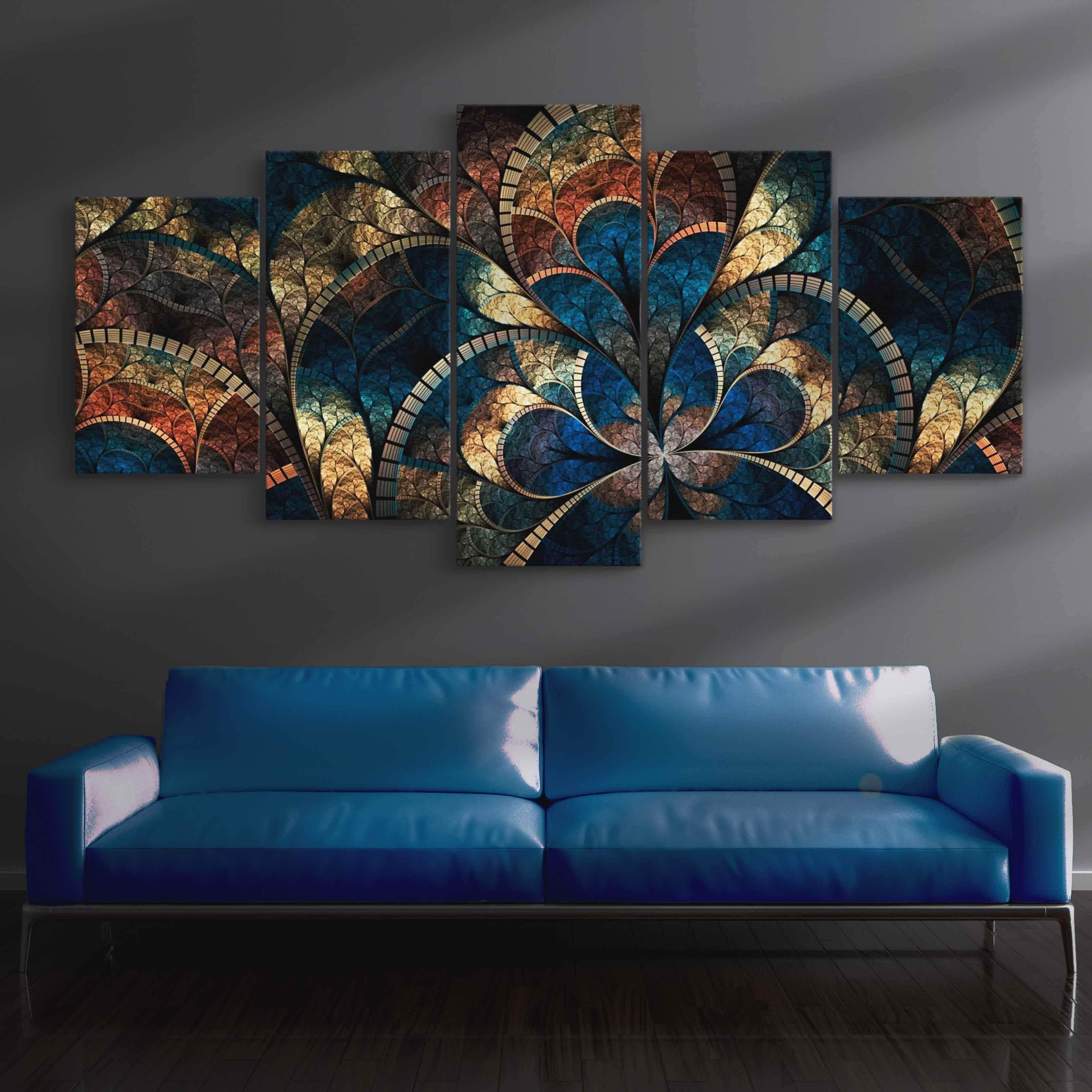 Abstract Art Canvas 5 panel wall art canvas
