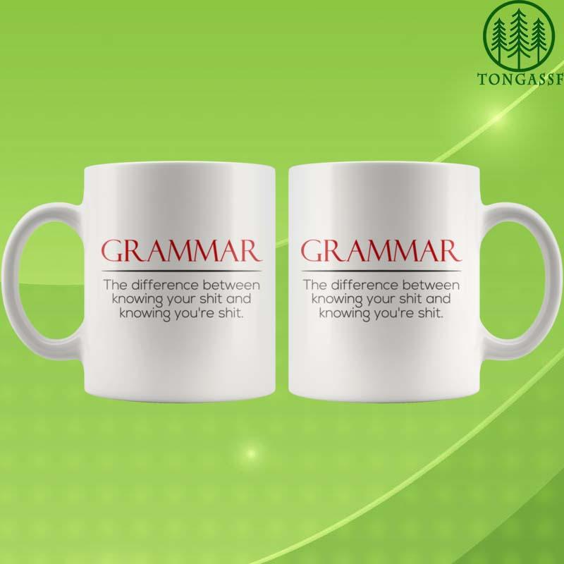 Alphabet grammar you are known shit mug