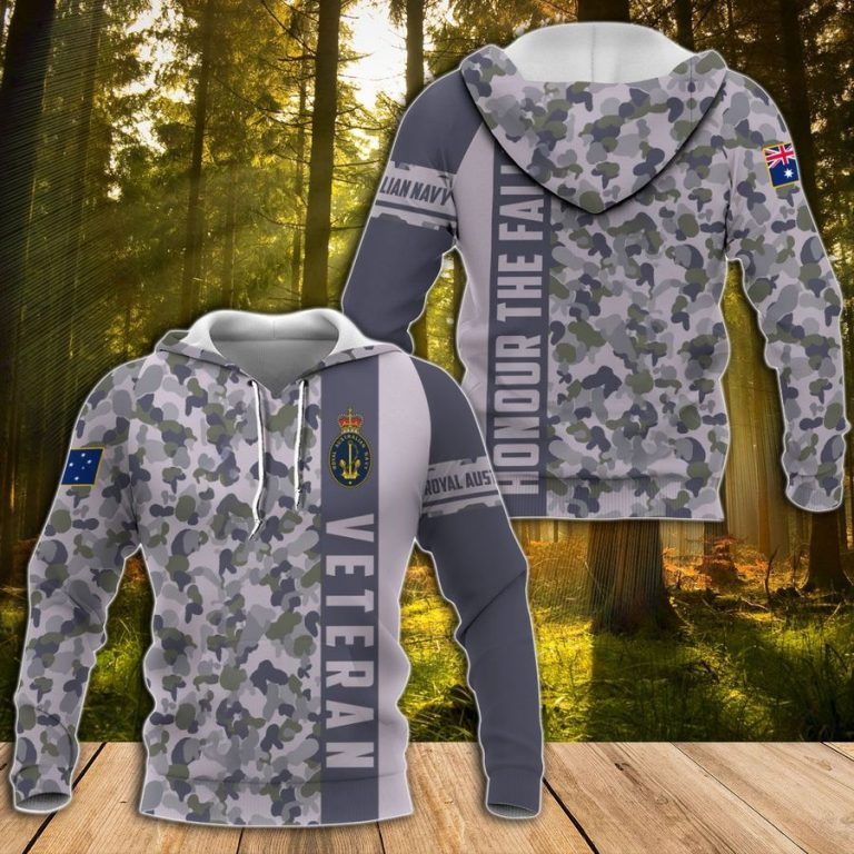 Royal Australian Navy camouflage hoodie 3D