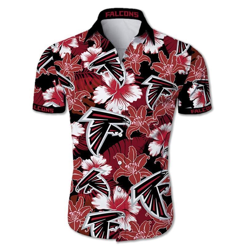 Atlanta Falcons Hawaiian Shirt Tropical Flower