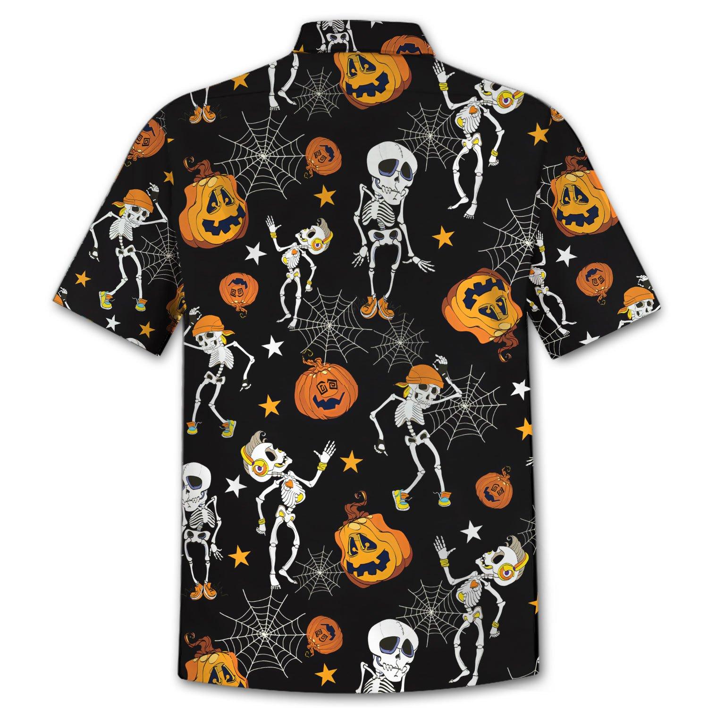 Halloween skeleton dancing Hawaiian Shirt
