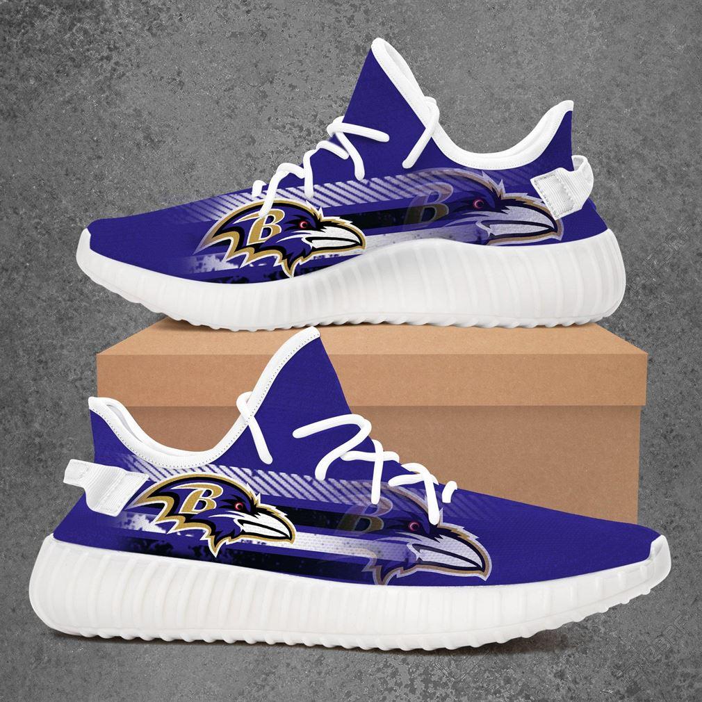 Baltimore Ravens Nba Basketball Yeezy Sneakers Shoes