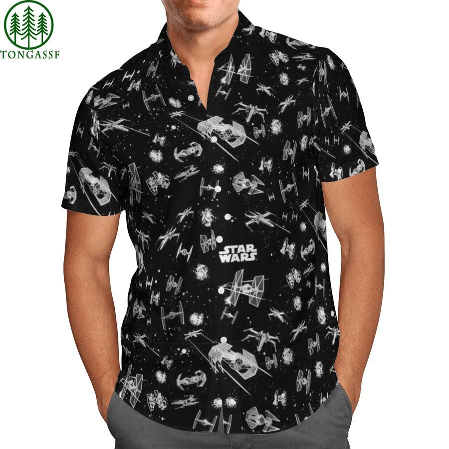 black star wars hawaiian shirt