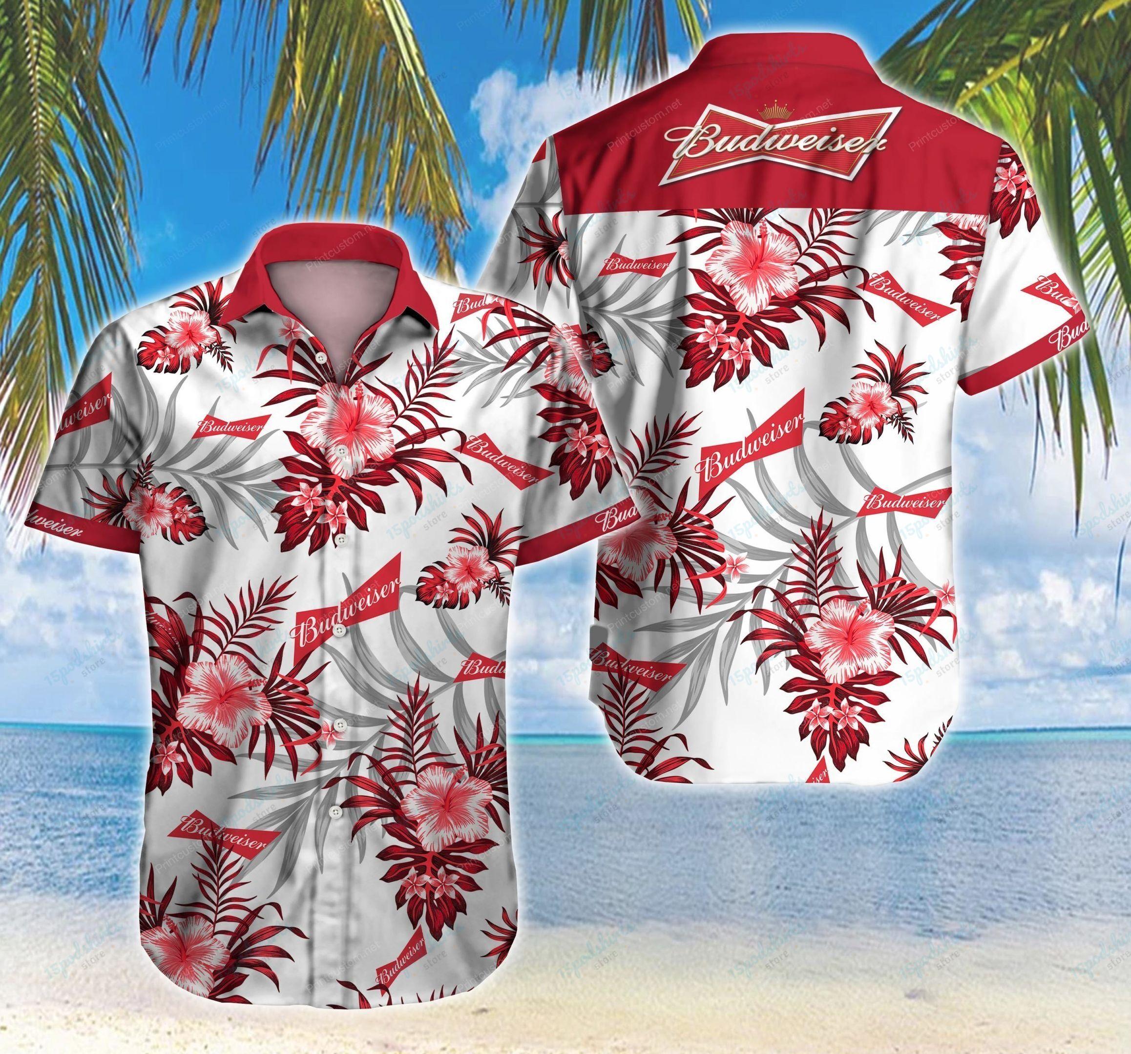 Budweiser Beer Hawaiian Shirt