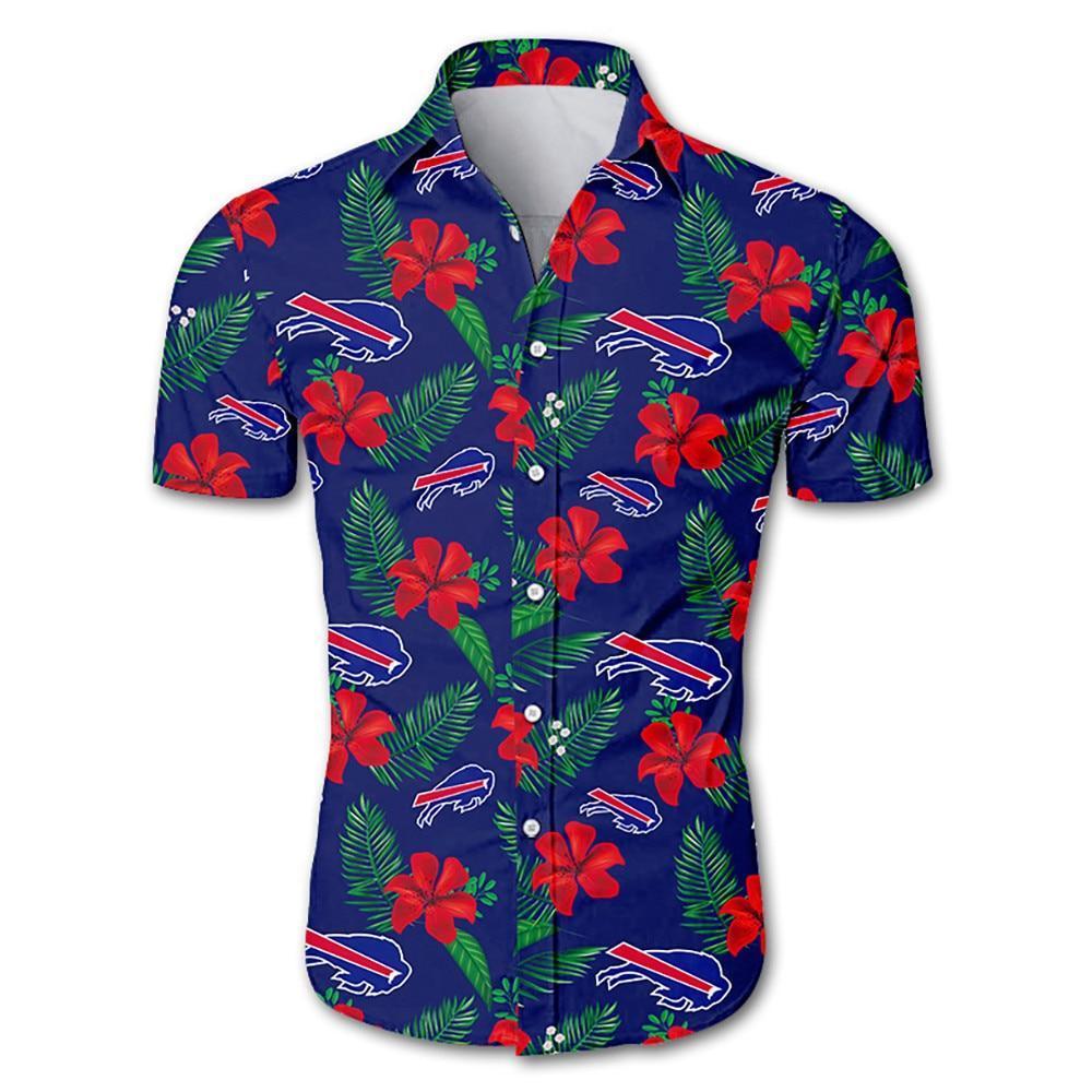 Buffalo Bills Hawaiian Shirt Floral Button Up