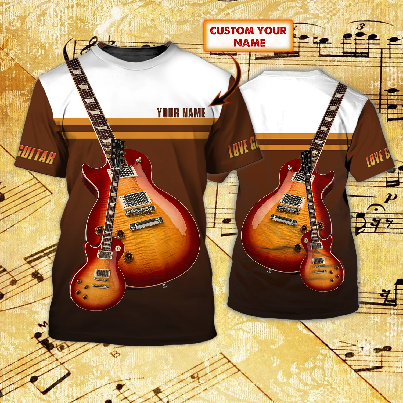 Personalized Guitar bass 3D T shirt