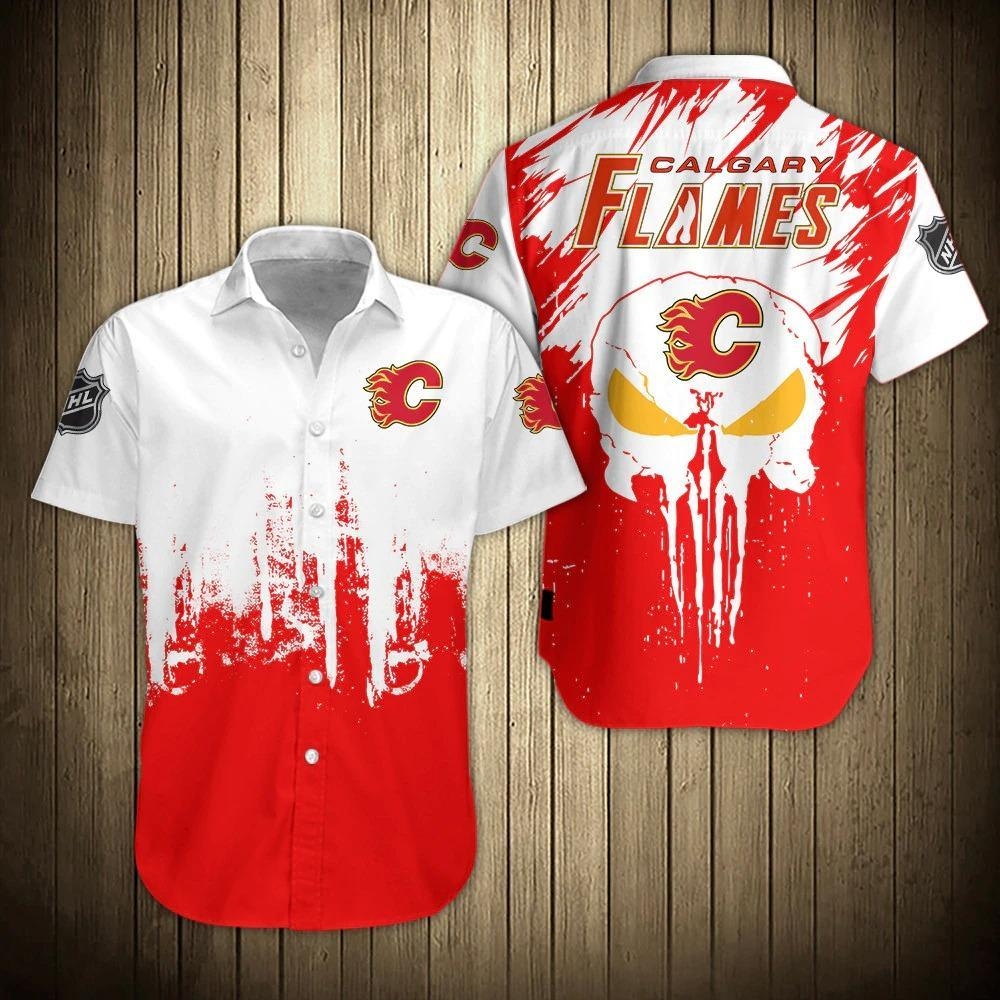NHL Calgary Flames Skull Hawaiian Summer Shirt