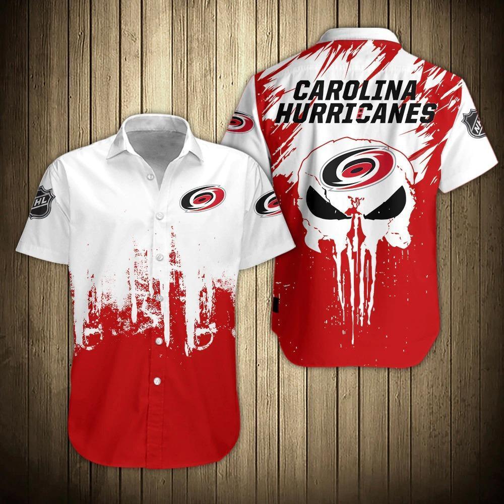 NHL Carolina Hurricanes Button Up Hawaii Shirt