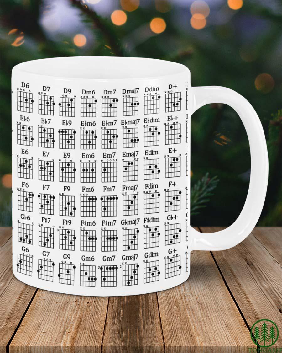 chart chords guitar mug